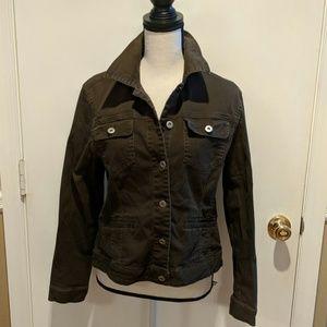 Adorable woman's cotton/spandex jacket. Brown. XL.